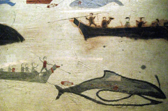 NYC - National Museum of the American Indian - Whale Hunt Painted Screen.jpg